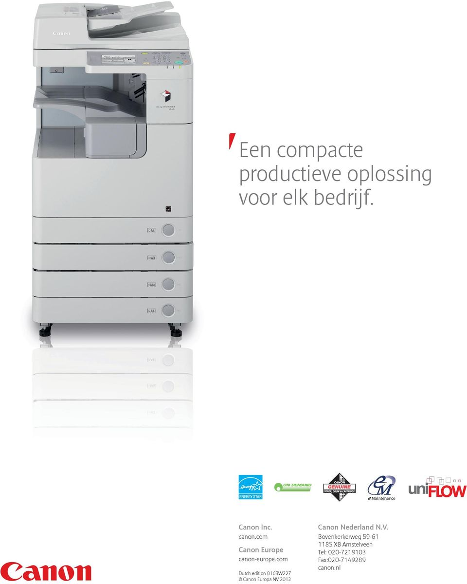 com Dutch edition 0163W227 Canon Europa NV 2012 Canon