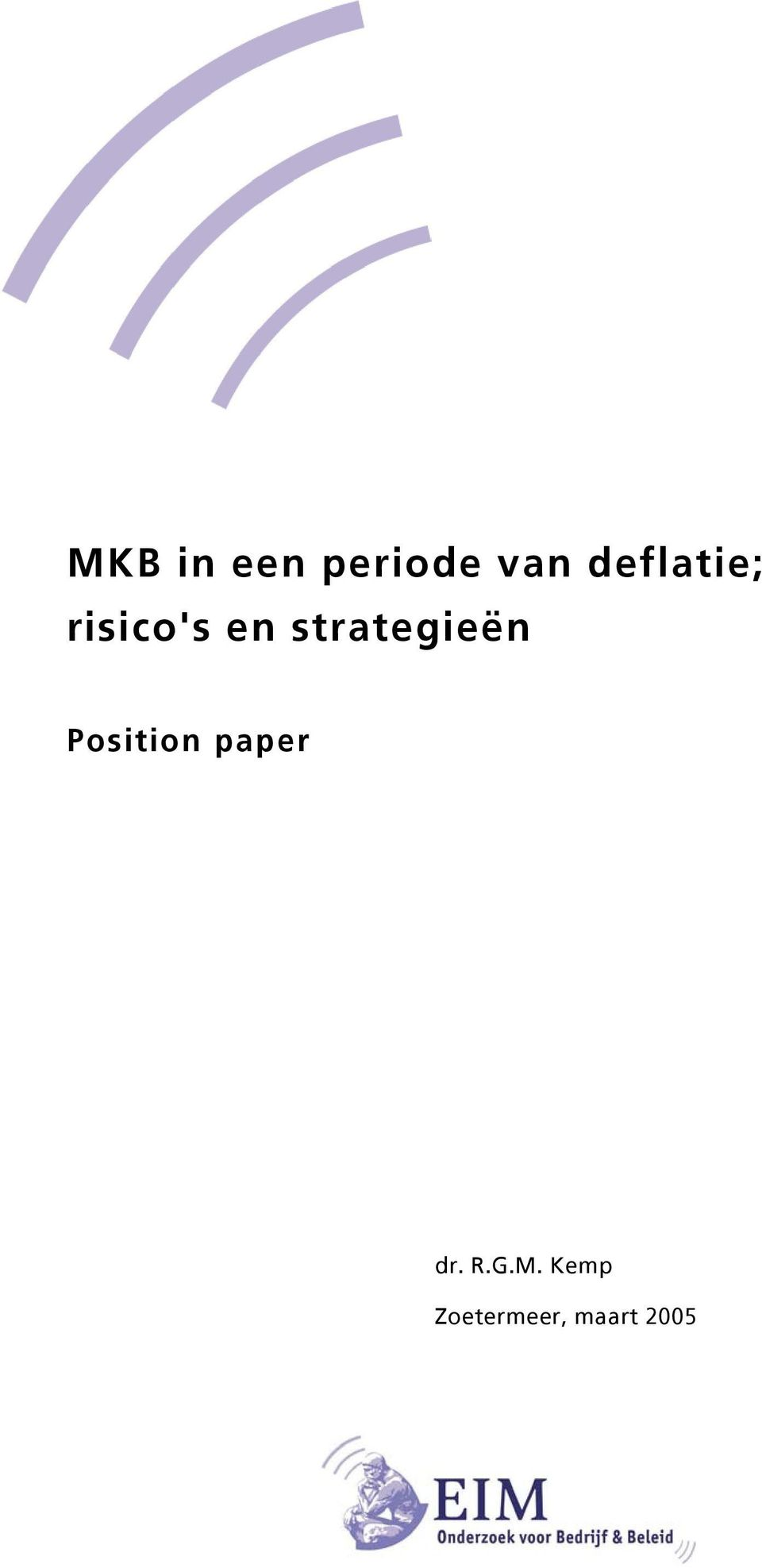 strategieën Position paper