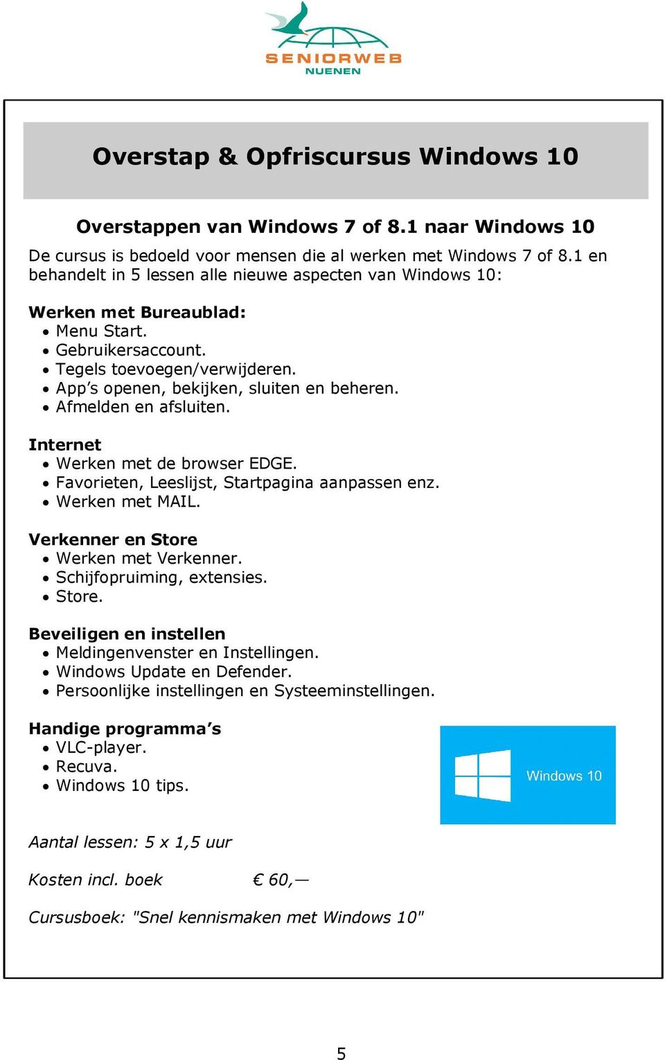 aanpassen windows 10