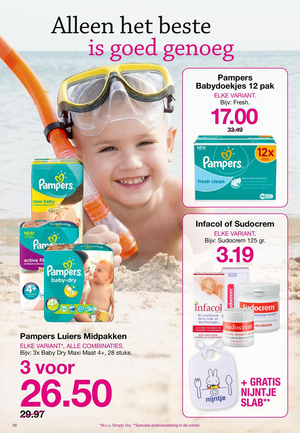 19 Pampers Luiers Midpakken ELKE VARIANT*, ALLE combinaties.