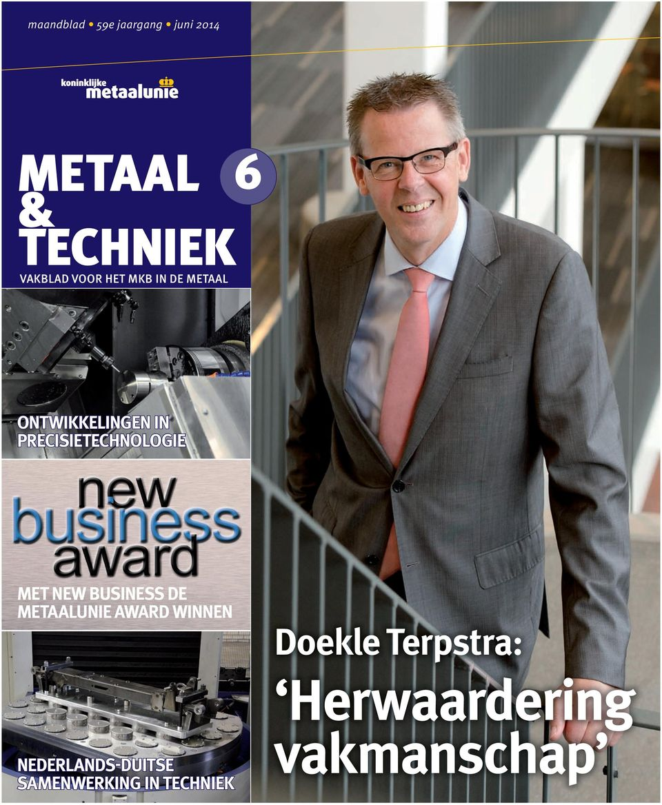 PRECISIETECHNOLOGIE MET NEW BUSINESS DE METAALUNIE AWARD WINNEN