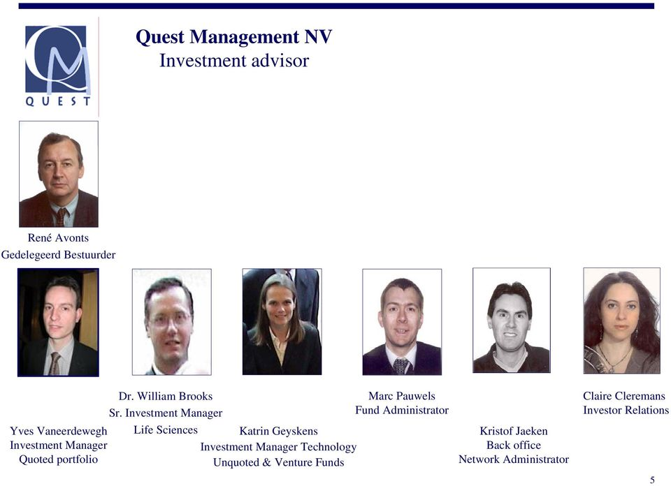 Investment Manager Life Sciences Katrin Geyskens Investment Manager Technology Unquoted &