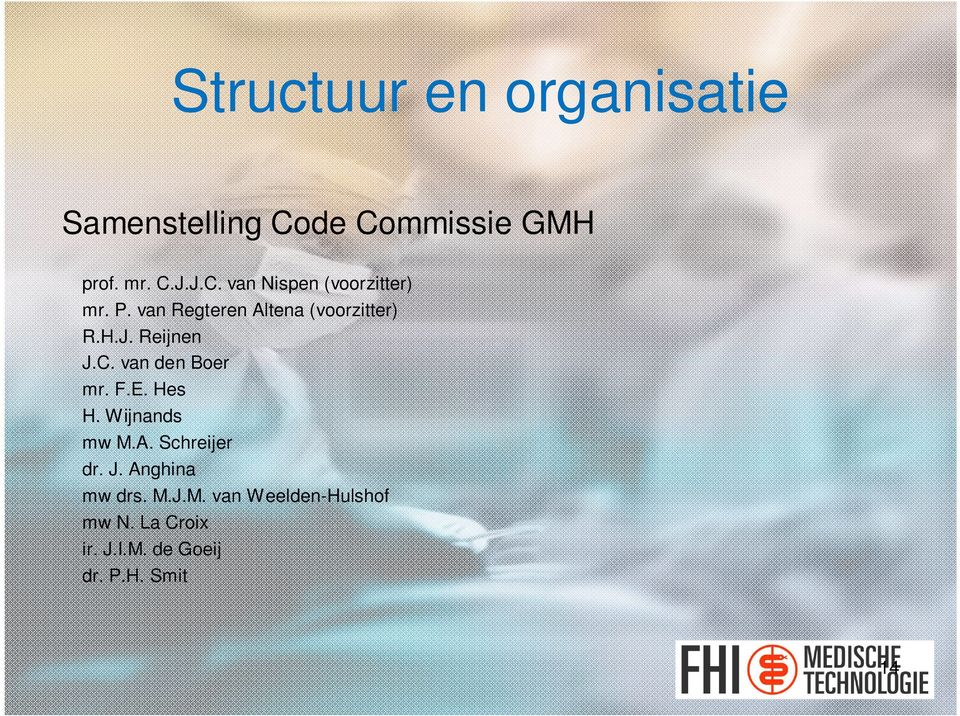 Hes H. Wijnands mw M.A. Schreijer dr. J. Anghina mw drs. M.J.M. van Weelden-Hulshof mw N.