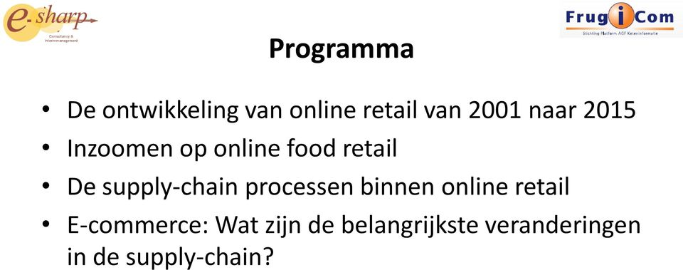 supply-chain processen binnen online retail