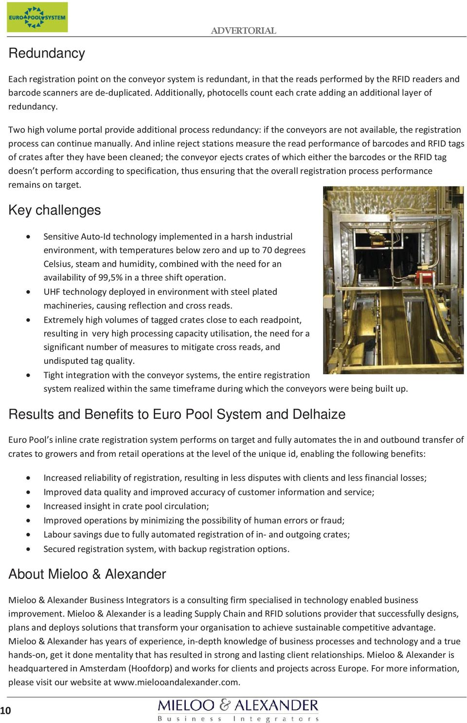 Benefits to Euro Pool System