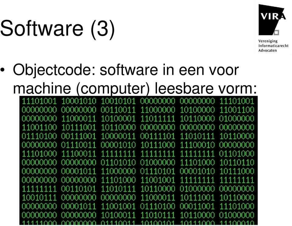 software in een