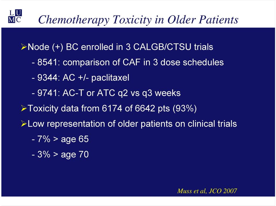 AC-T or ATC q2 vs q3 weeks Toxicity data from 6174 of 6642 pts (93%) Low