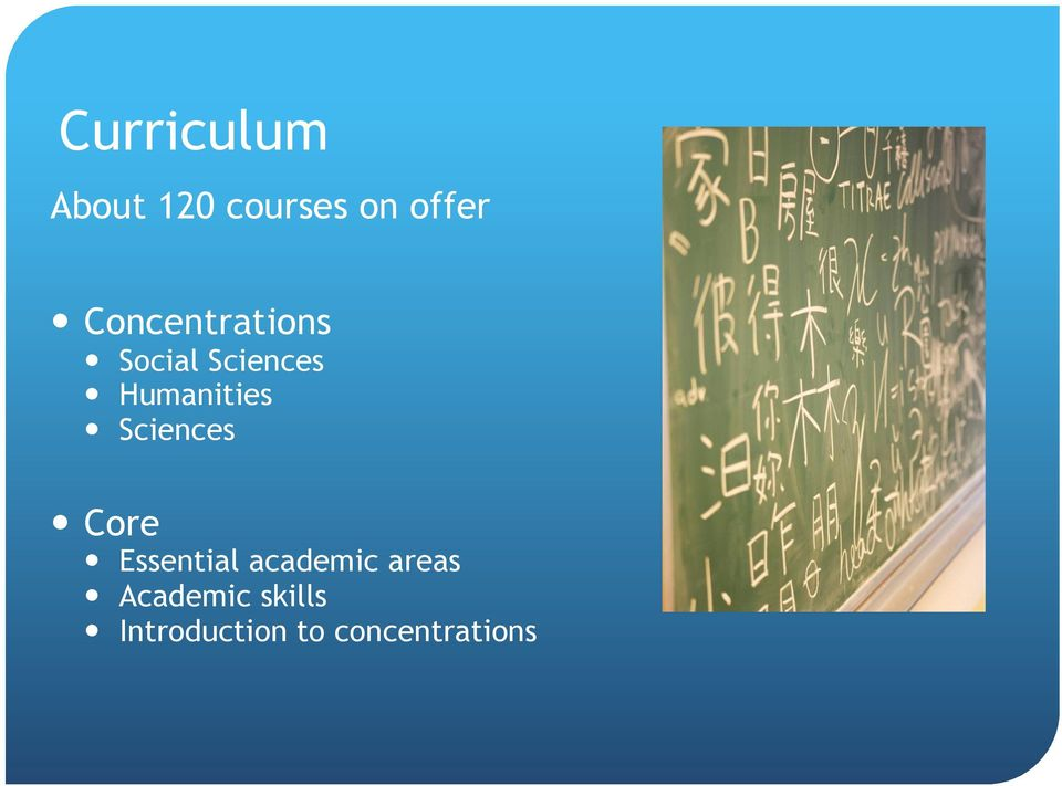 Sciences Core Essential academic areas