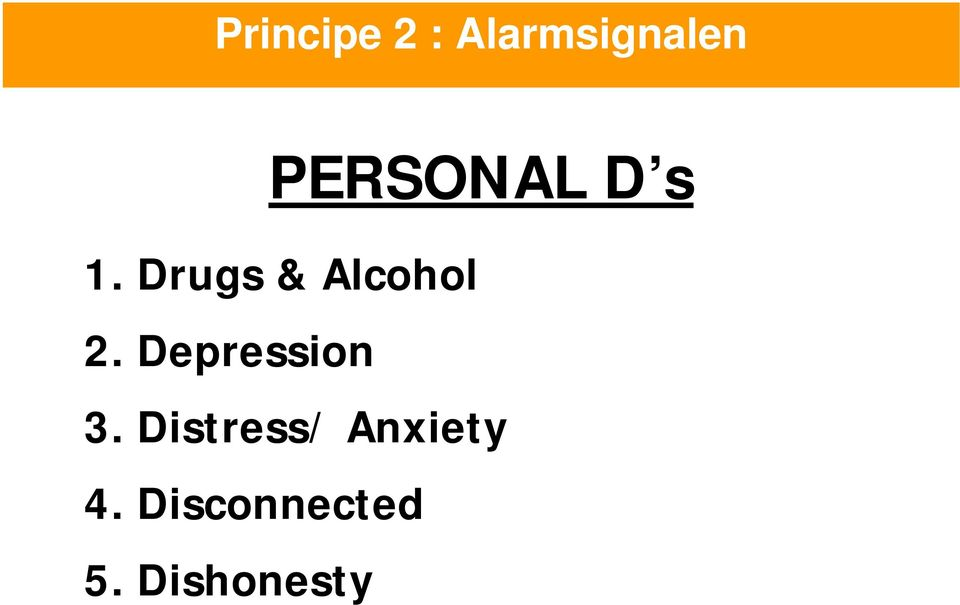 Drugs & Alcohol 2.