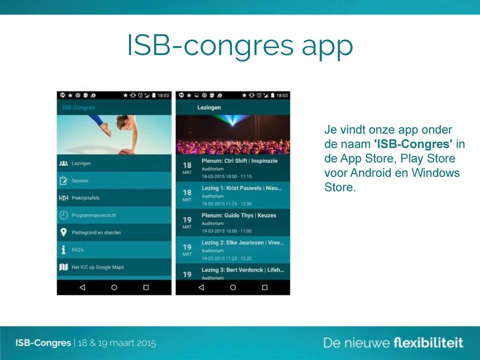 'ISB-Congres' in de App