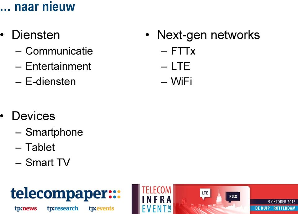 E-diensten Next-gen networks