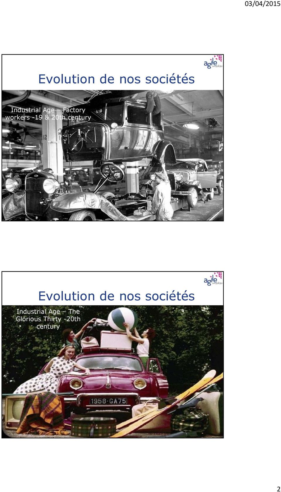 work 3 Evolution de nos sociétés Industrial Age The