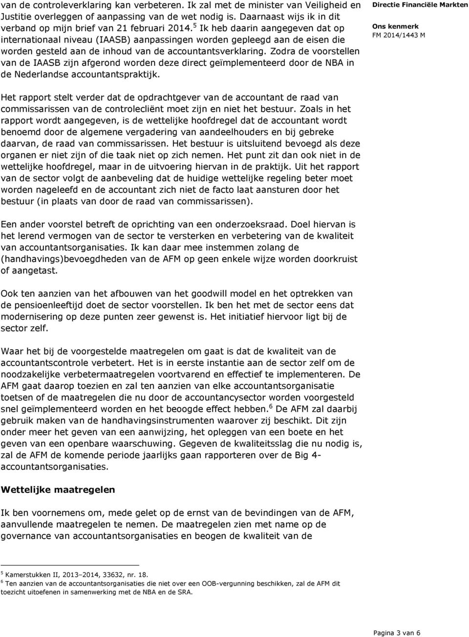 rapport afm accountants