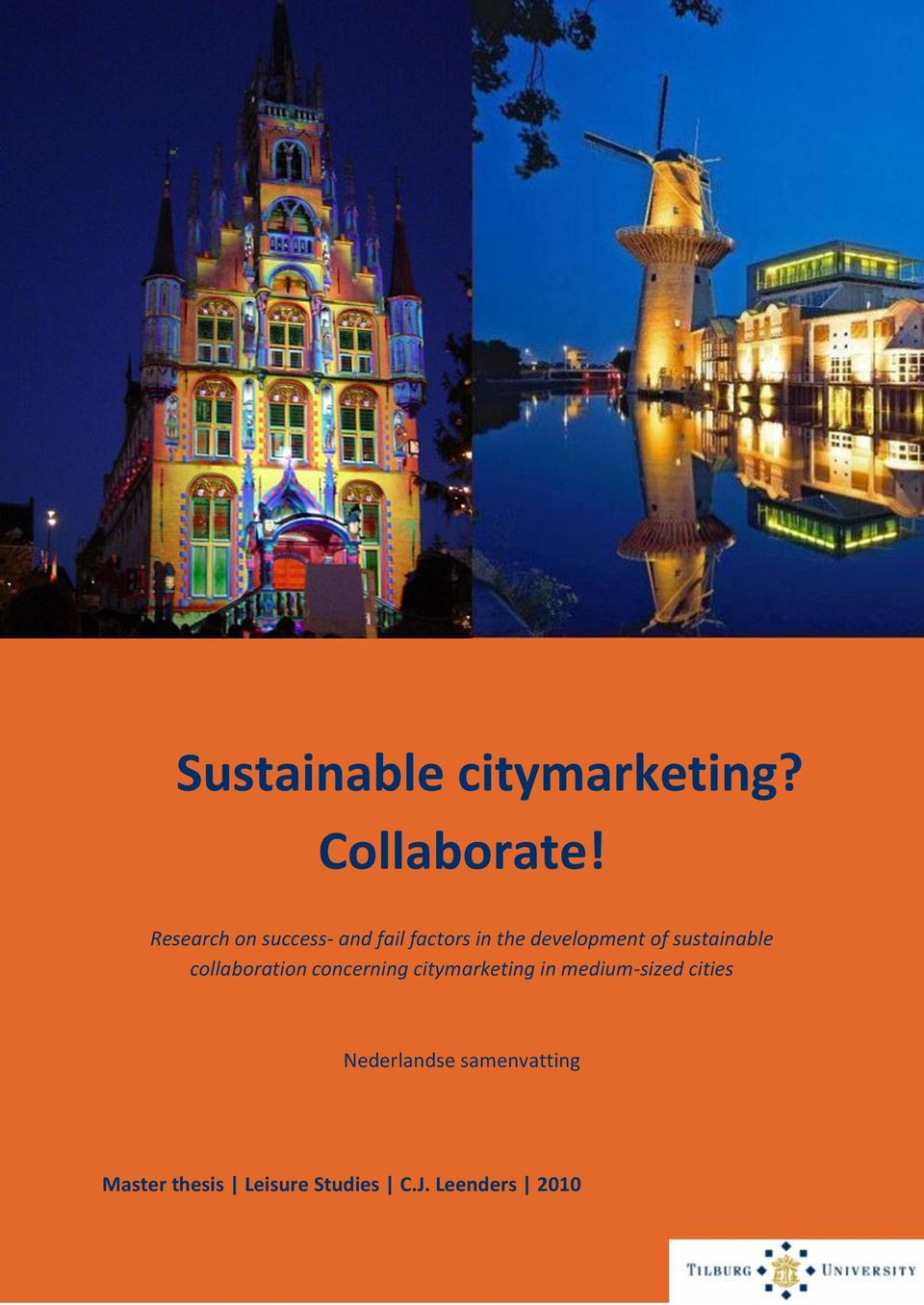 sustainable collaboration concerning citymarketing in