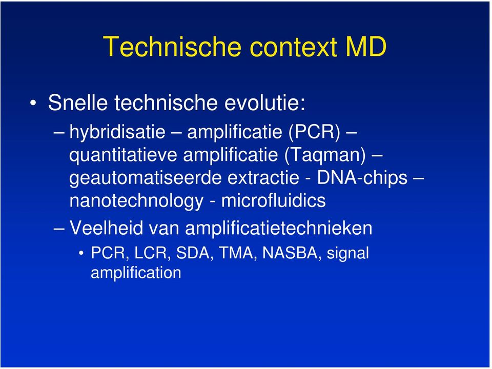 geautomatiseerde extractie - DNA-chips nanotechnology -