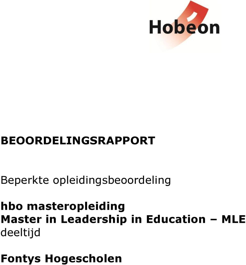 masteropleiding Master in