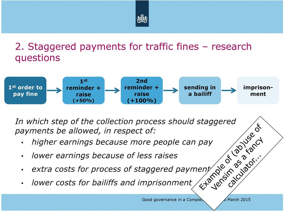 process should staggered payments be allowed, in respect of: higher earnings because more people can pay