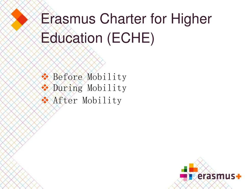 (ECHE) Before Mobility