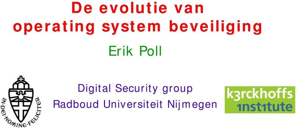 Poll Digital Security