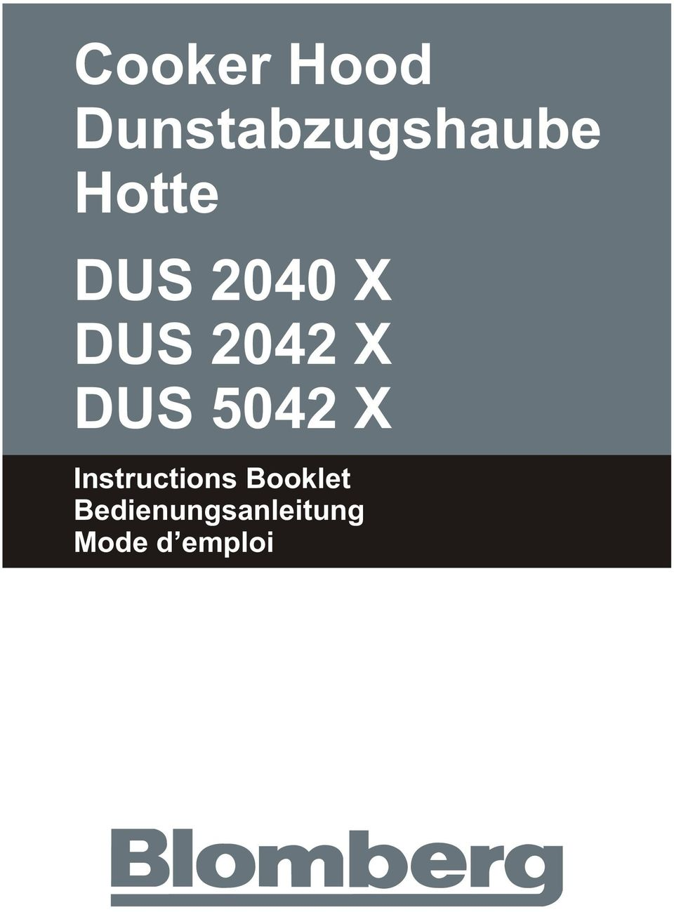 DUS 5042 X Instructions
