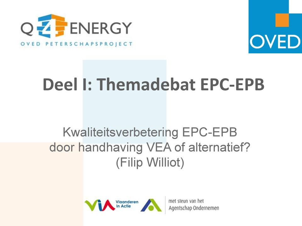 EPC-EPB door handhaving