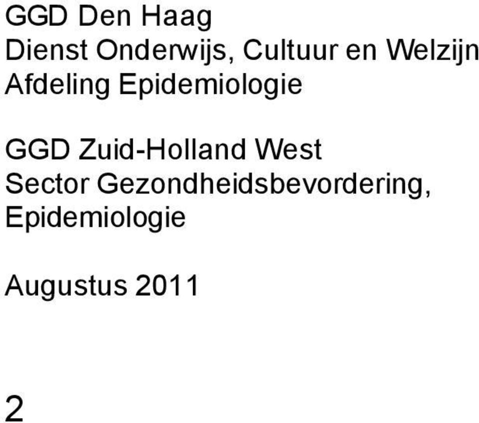 Zuid-Holland West Sector