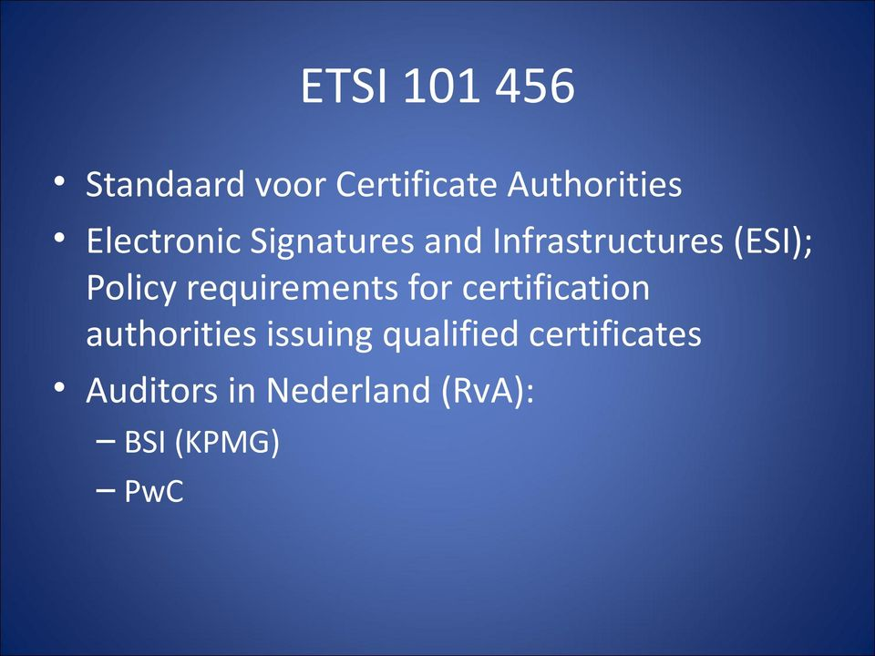 requirements for certification authorities issuing