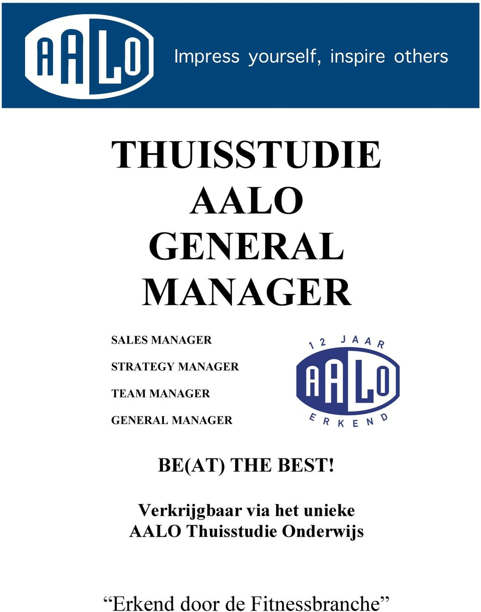 MANAGER GENERAL MANAGER BE(AT) THE BEST!