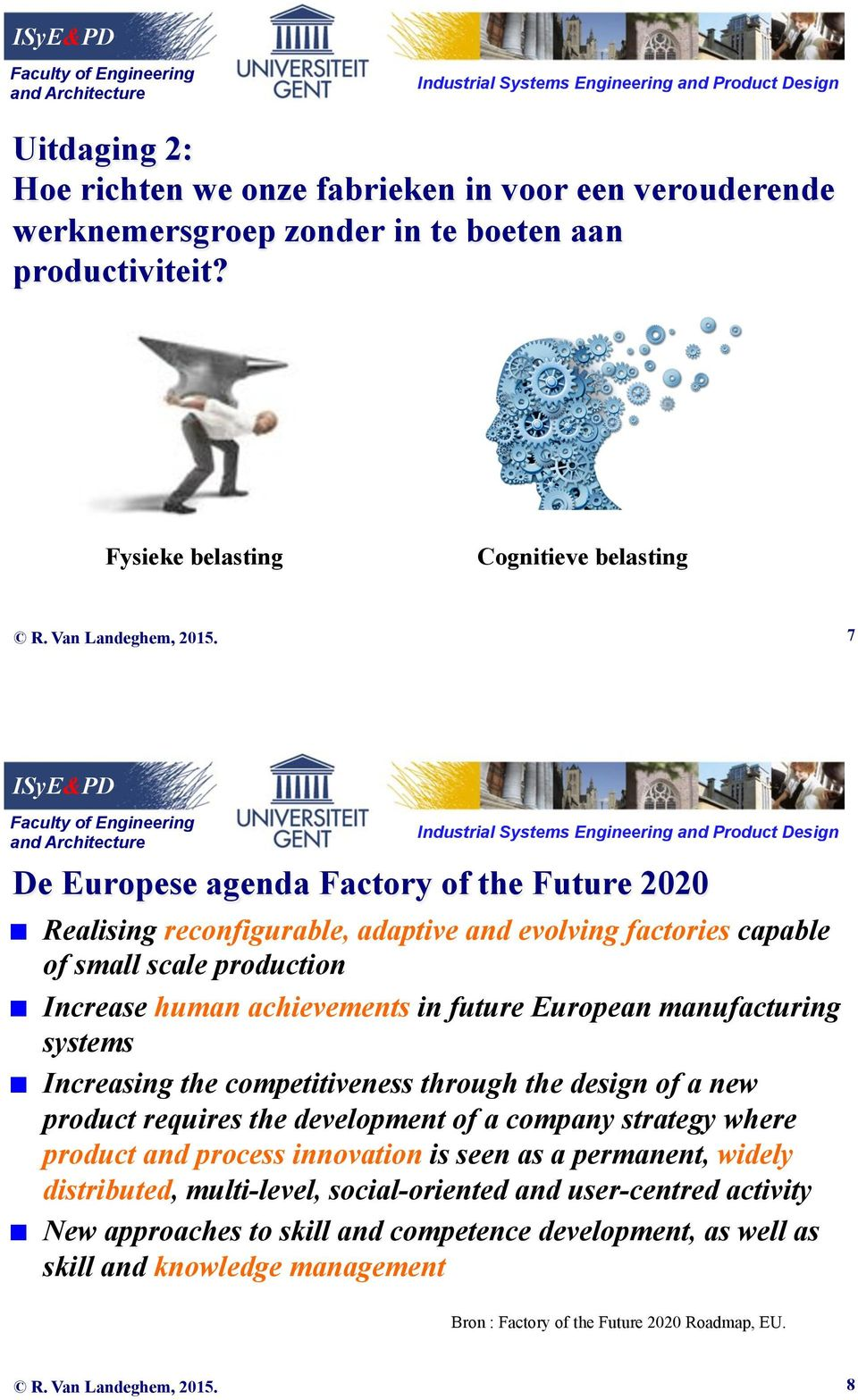 human achievements in future European manufacturing systems Increasing the competitiveness through the design of a new product requires the development of a company strategy where product