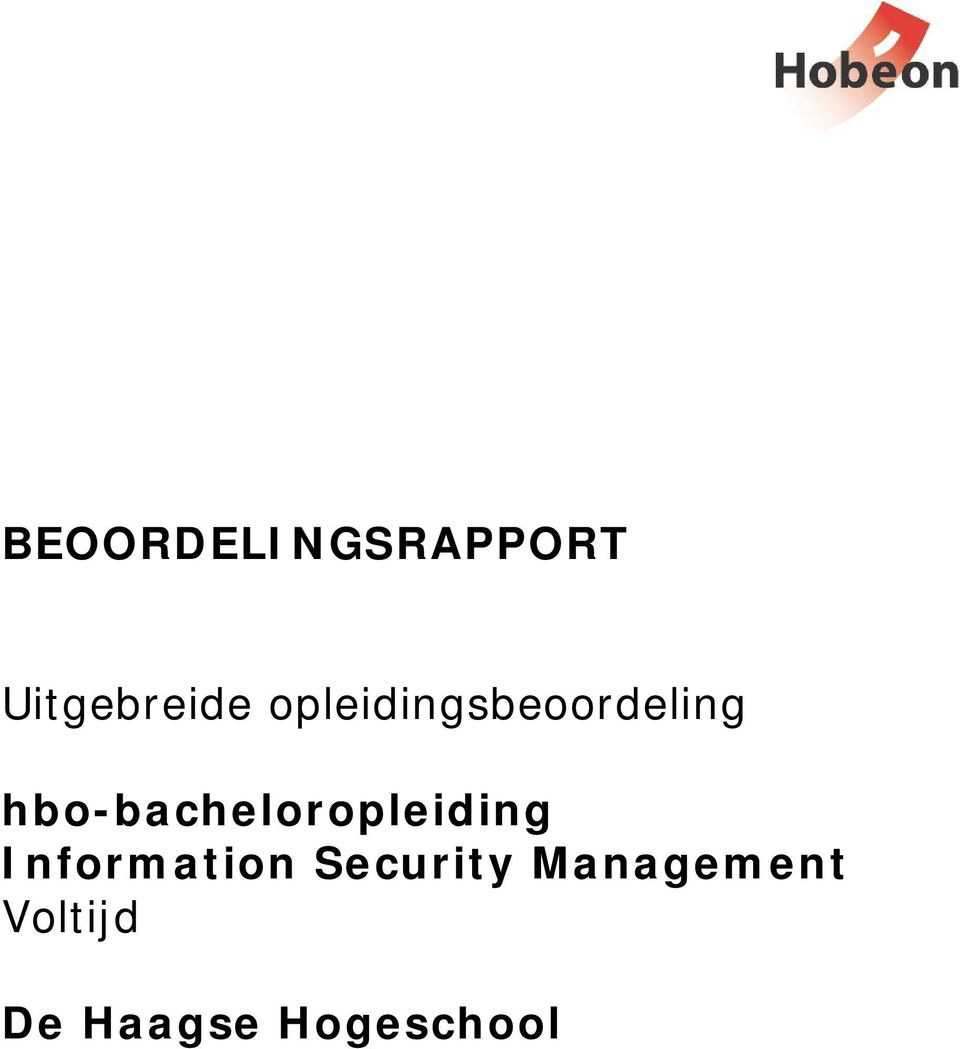 hbo-bacheloropleiding Information