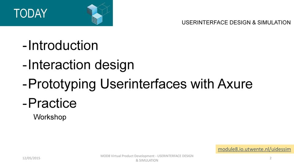 Userinterfaces with Axure -Practice