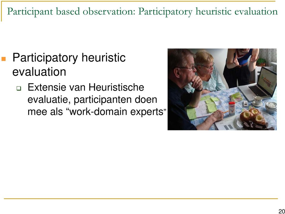 evaluation Extensie van Heuristische