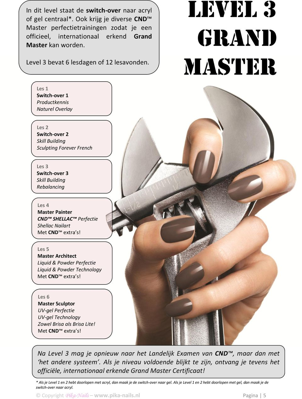 Level 3 Grand Master Les 1 Switch-over 1 Productkennis Naturel Overlay Les 2 Switch-over 2 Skill Building Sculpting Forever French Les 3 Switch-over 3 Skill Building Rebalancing Les 4 Master Painter