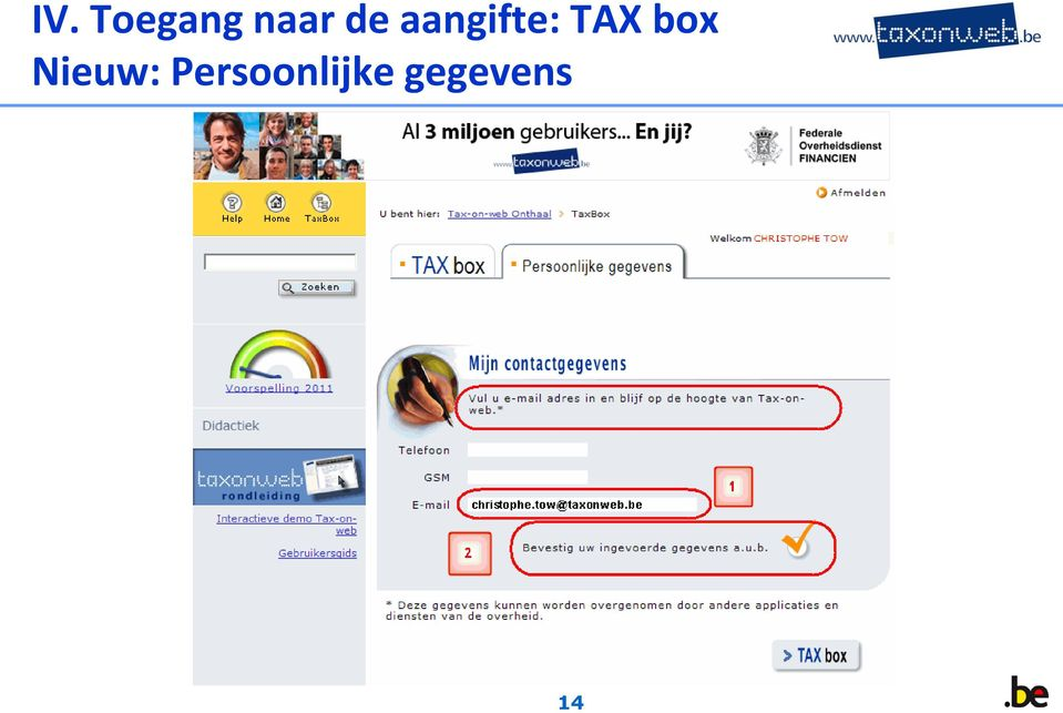 aangifte: TAX box