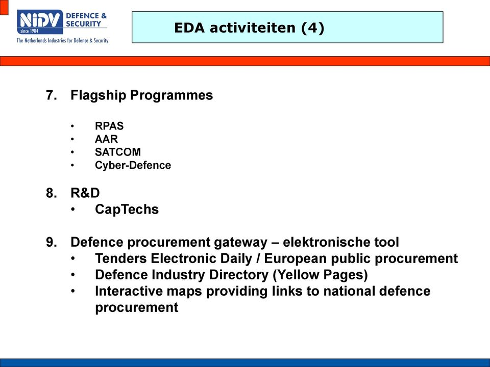 Defence procurement gateway elektronische tool Tenders Electronic Daily /