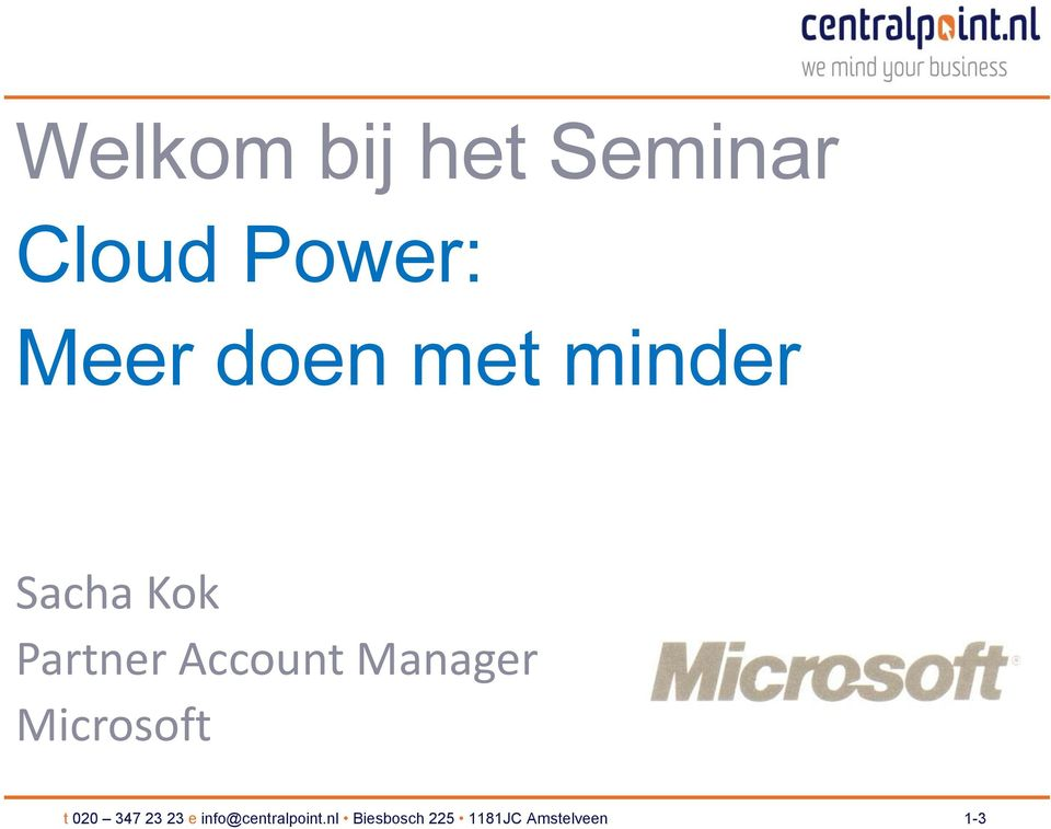 Manager Microsoft t 020 347 23 23 e