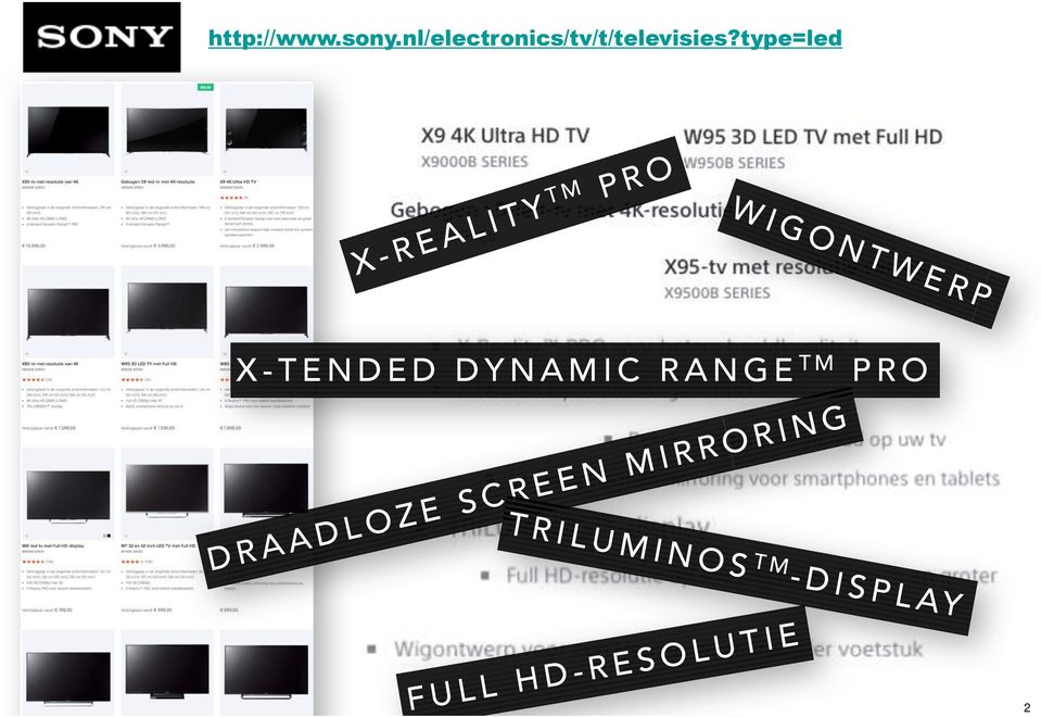 type=led X-REALITY TM PRO WIGONTWERP X-TENDED