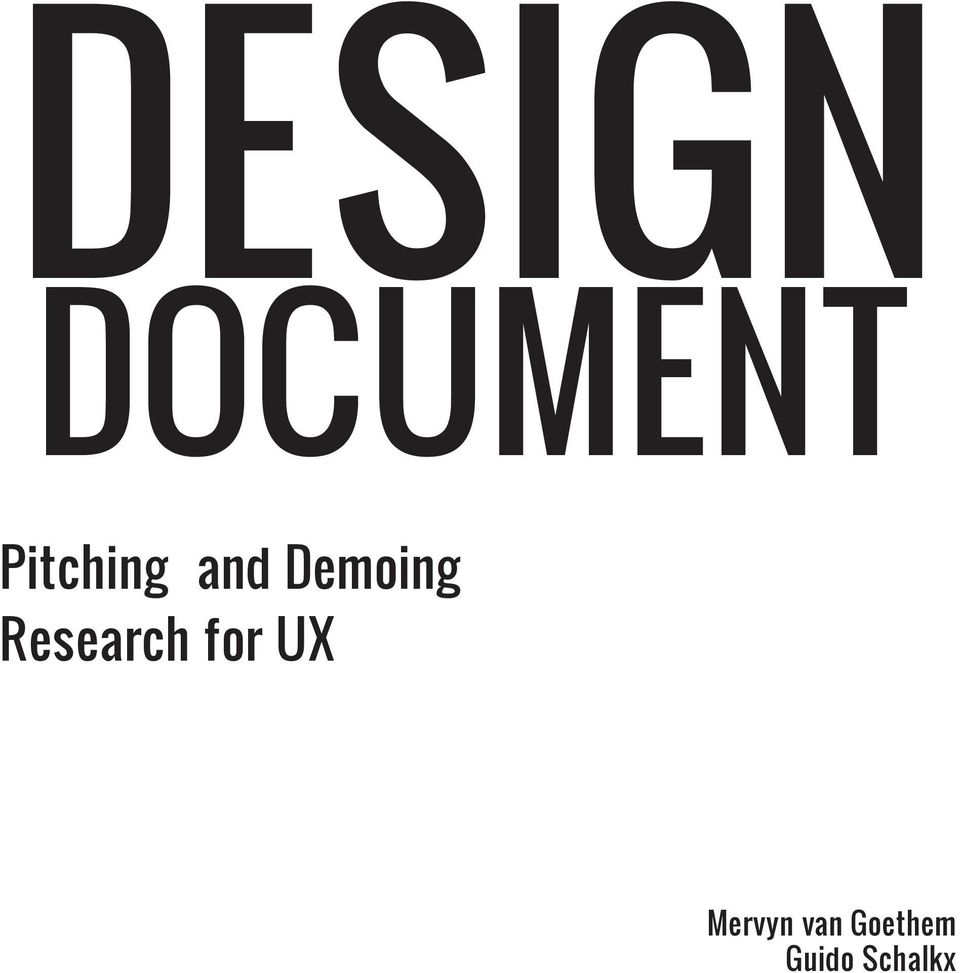 Research for UX