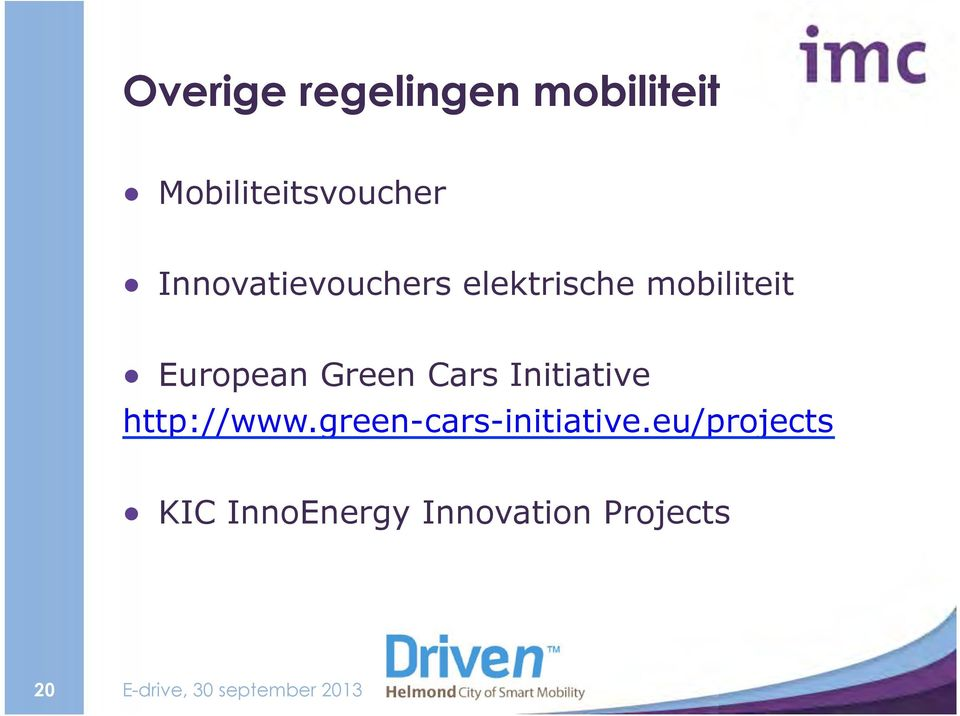Green Cars Initiative http://www.