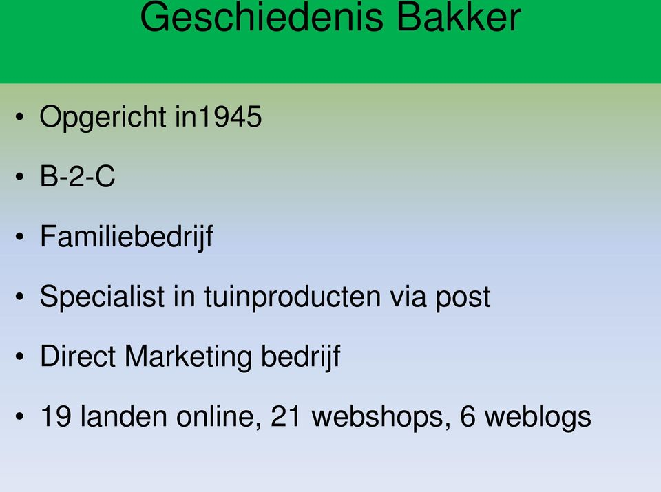 tuinproducten via post Direct Marketing