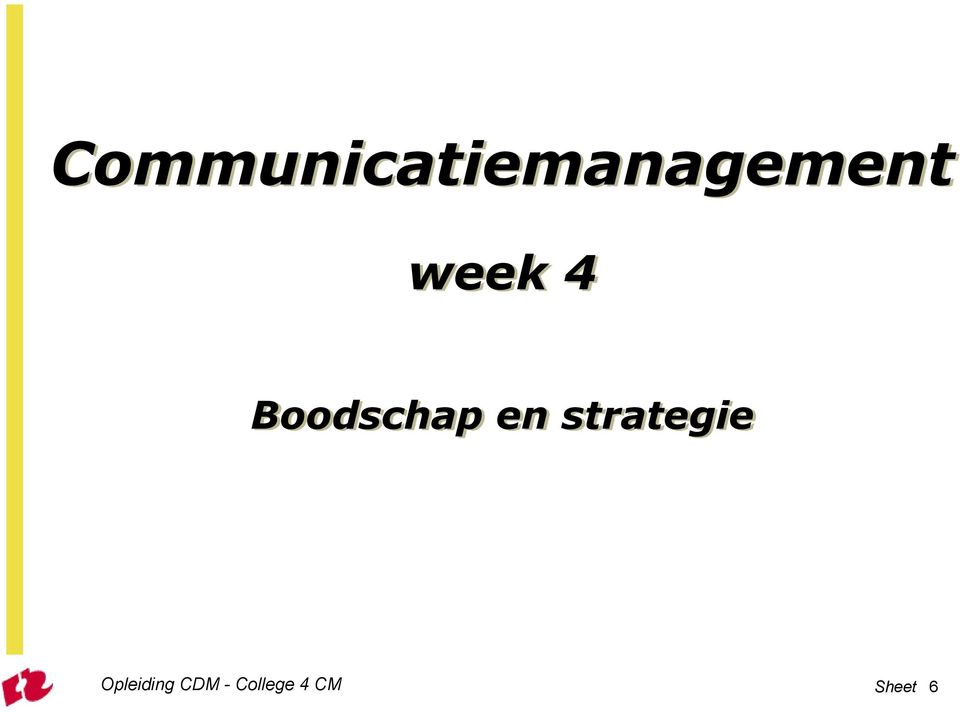 strategie Opleiding