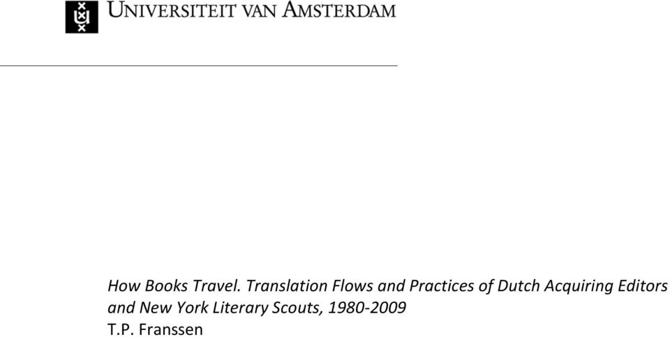 of Dutch Acquiring Editors and