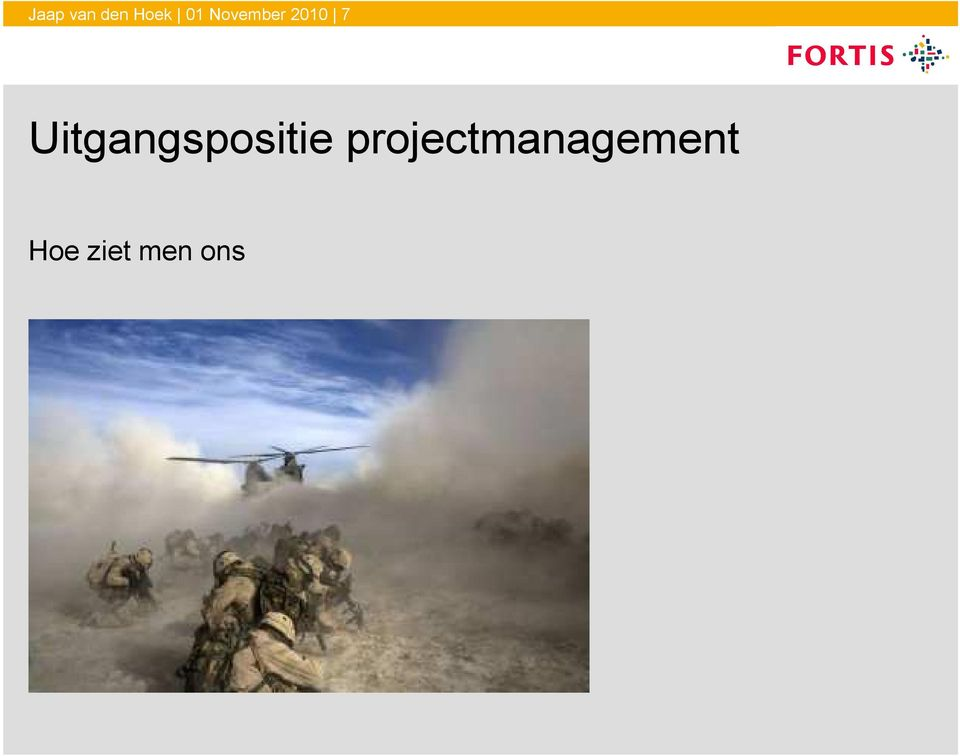 projectmanagement Hoe ziet men