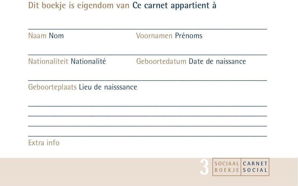 Nationaliteit Nationalité Geboortedatum Date