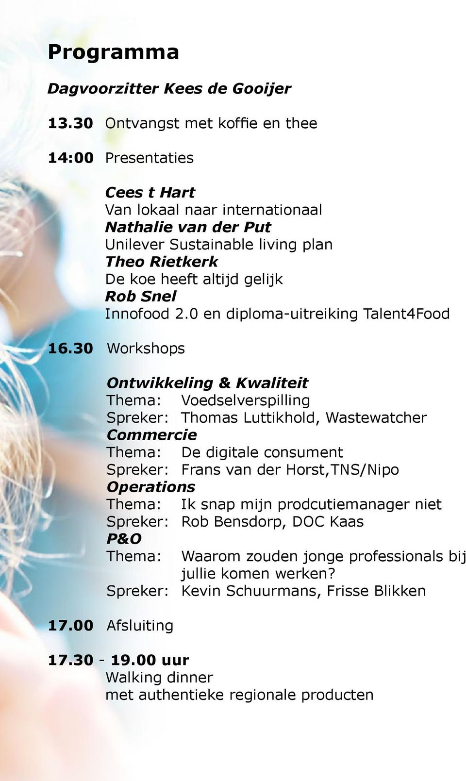 Rob Snel Innofood 2.0 en diploma-uitreiking Talent4Food 16.