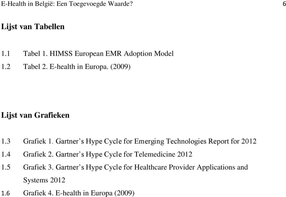 Gartner s Hype Cycle for Emerging Technologies Report for 2012 1.4 Grafiek 2.