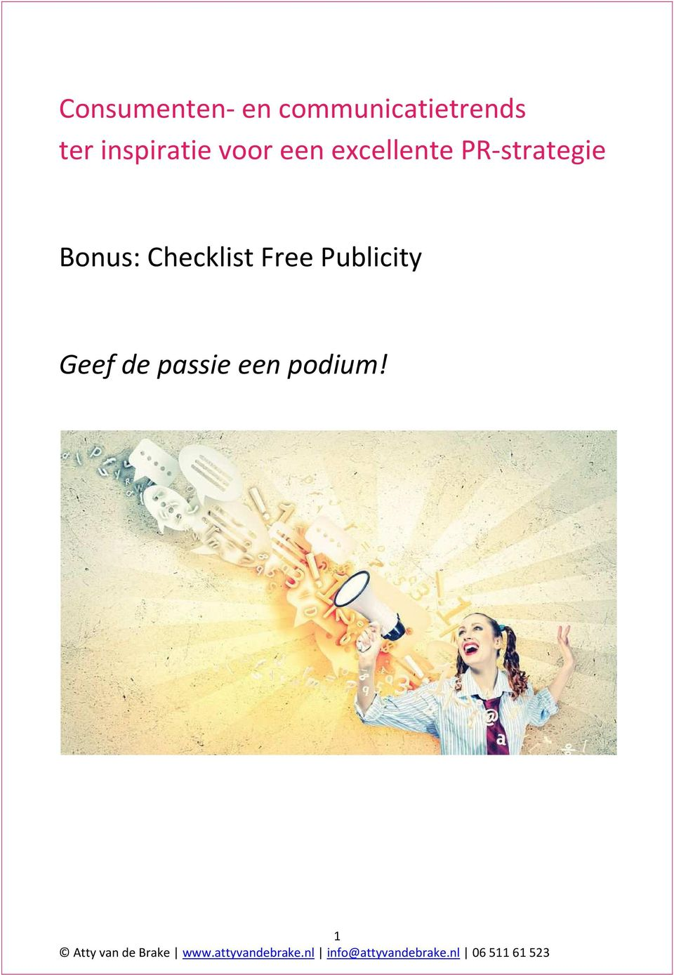PR-strategie Bonus: Checklist Free