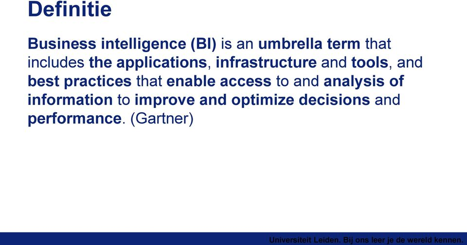 and best practices that enable access to and analysis of