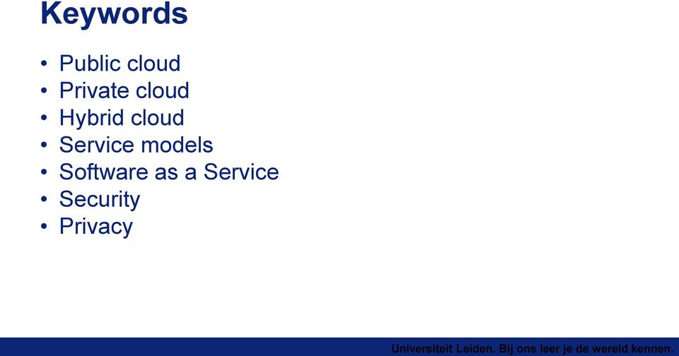 cloud Service models
