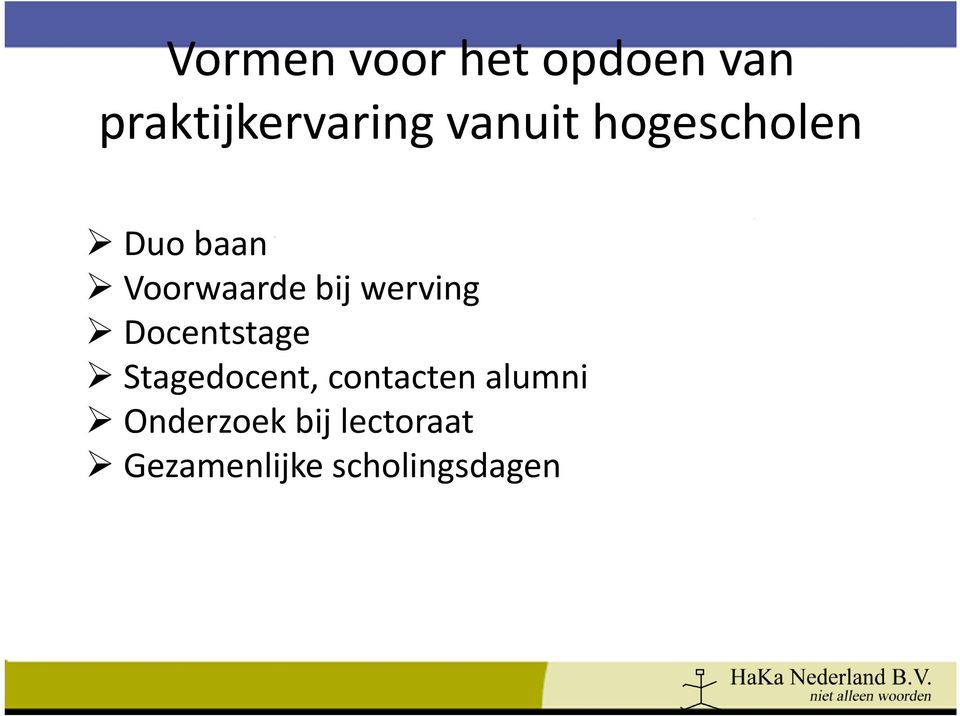 werving Docentstage Stagedocent, contacten